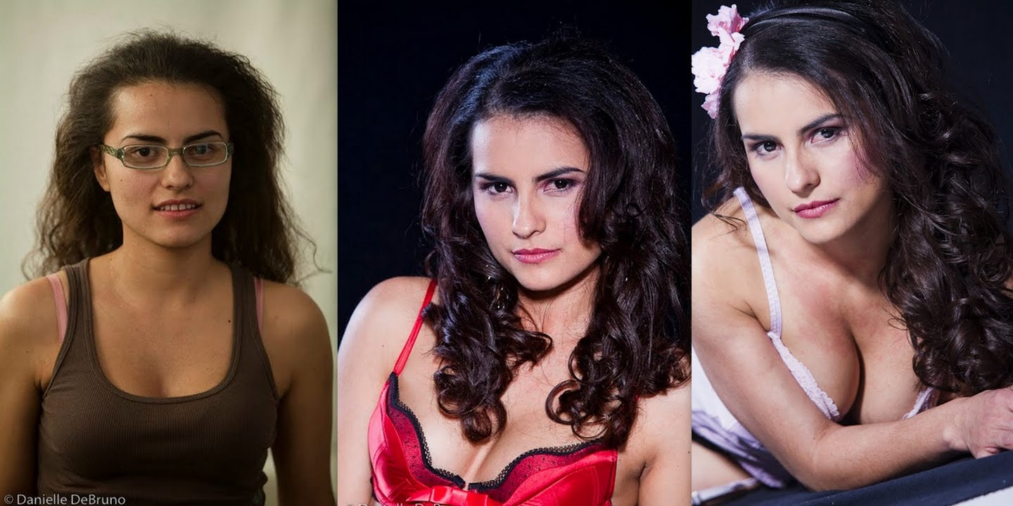 Hair and makeup Trasformed for a boudoir photoshoot