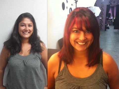 Hair color and hair cut