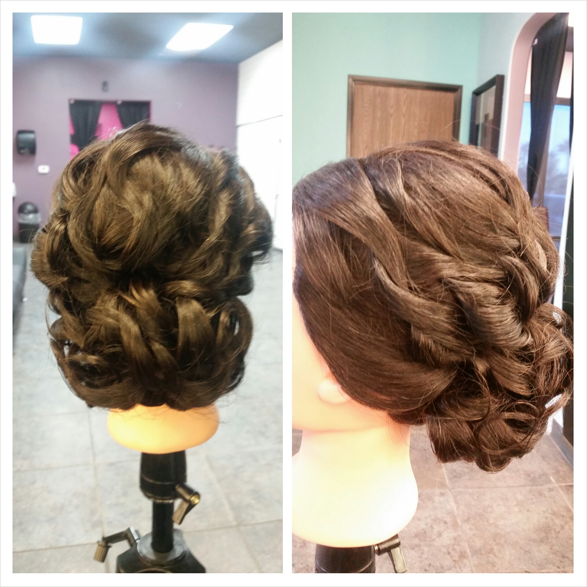 This is an extremely textured updo that is great for any bride who want an intricate style.  Hair texture needed: Medium to Thick  Hair length needed: Medium-short to Medium