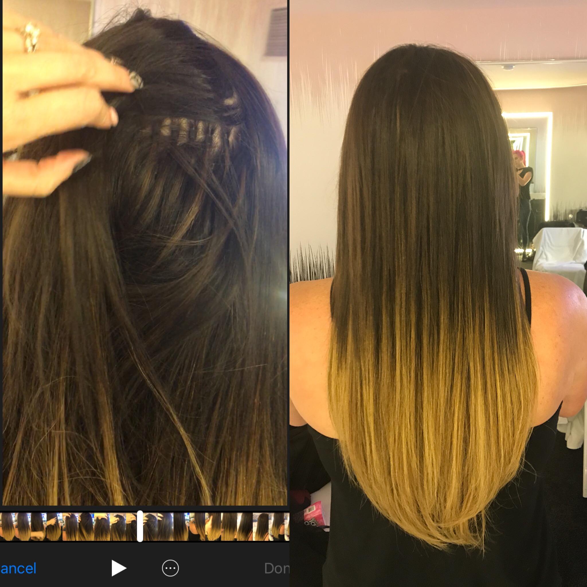 BALAYAGED BROWN TO BLONDE LAS VEGAS HAIR EXTENSIONS