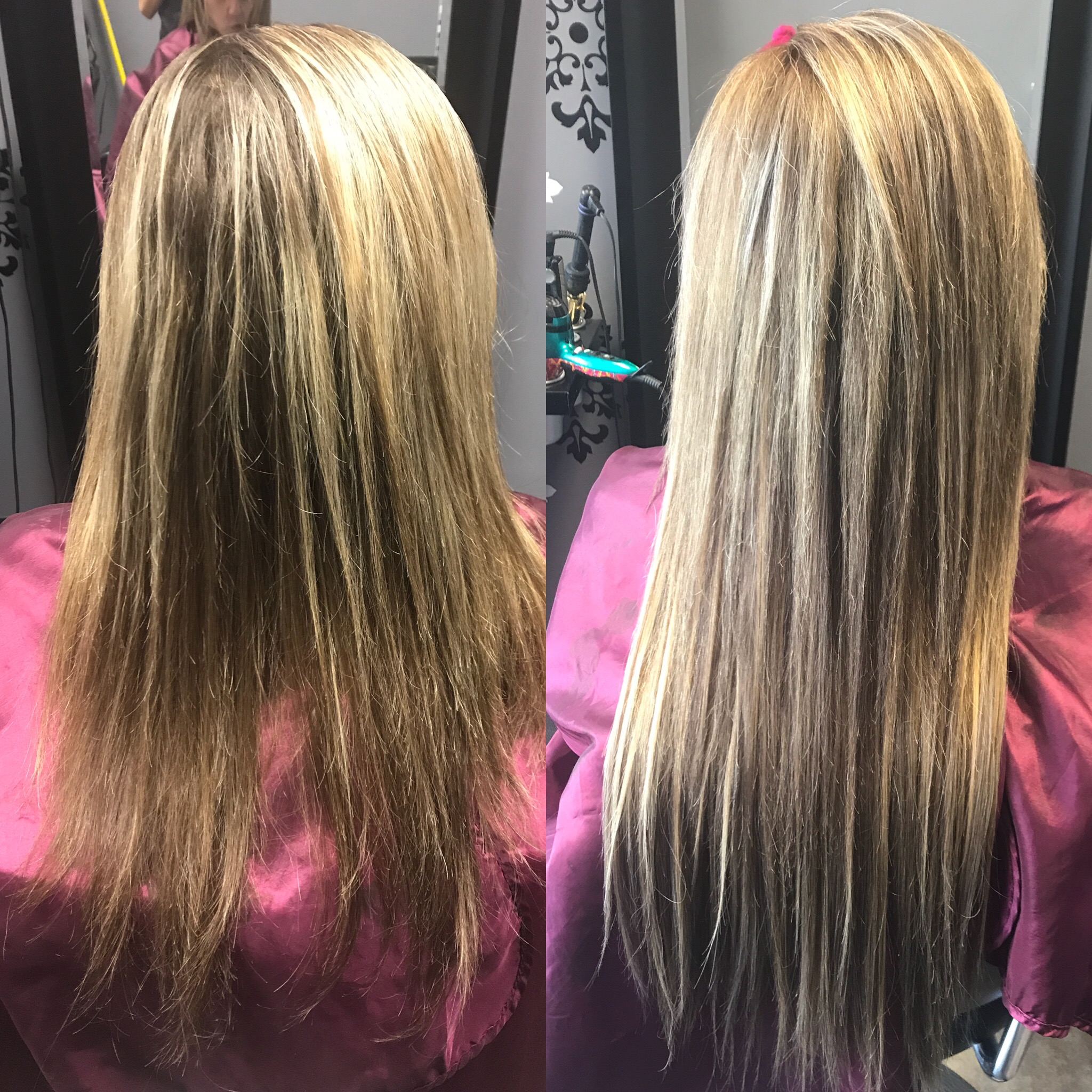 BLONDE PARTIAL HIGHLIGHT AND LAS VEGAS HAIR EXTENSIONS
