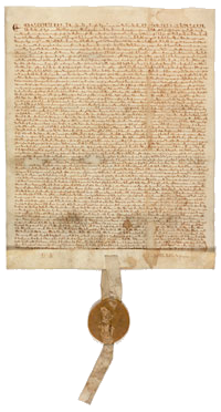 Magna Carta, 1297  from the U.S. National Archives Featured Documents Exhibit. Click for more information.