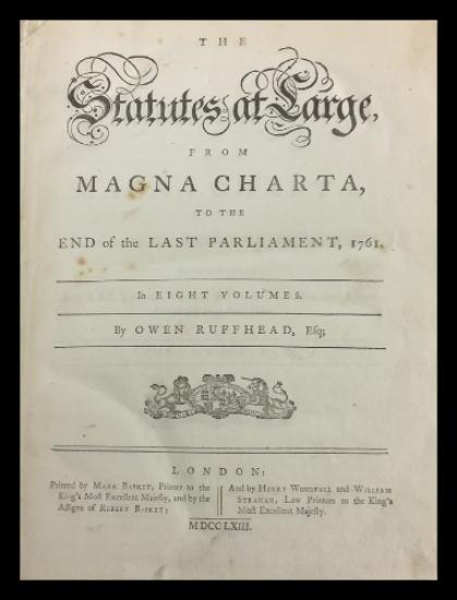 Magna Charta - Ruffhead title page.png