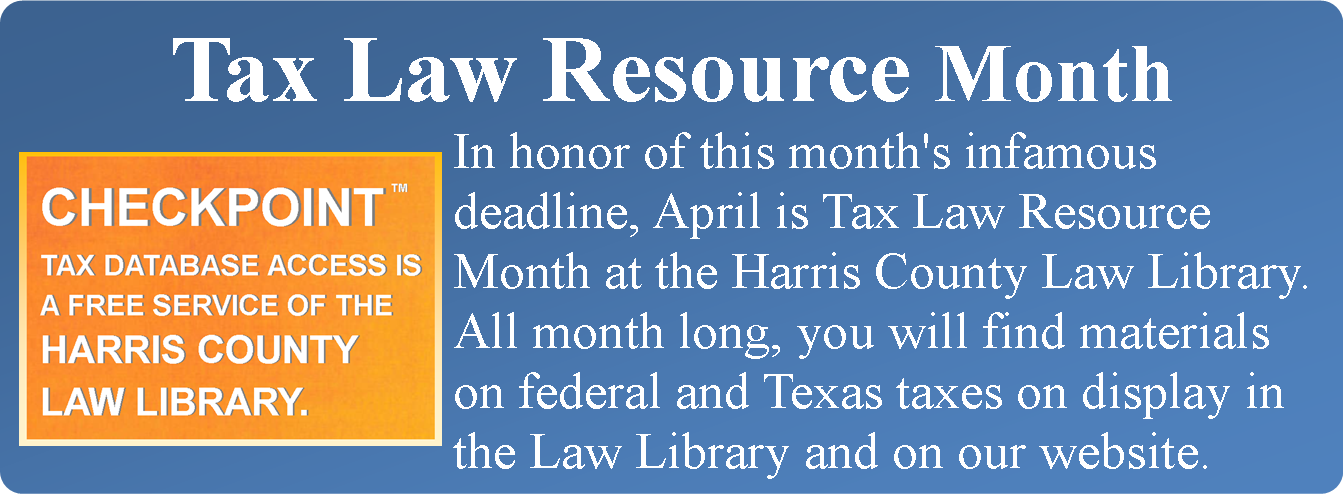 Tax Law Resource Month graphic