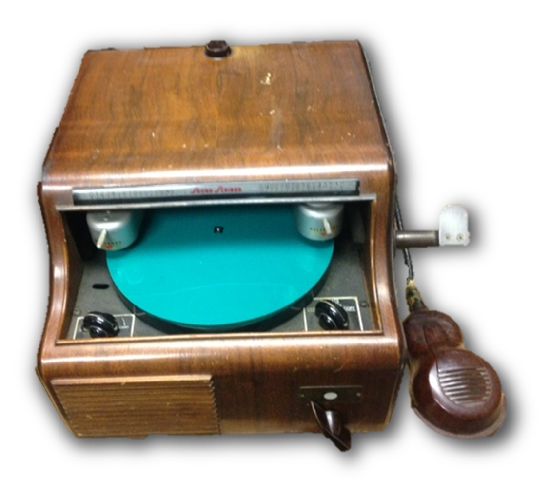 Soundscriber dictation machine used in the Harris County Law Library in the 1940s - click to enlarge.