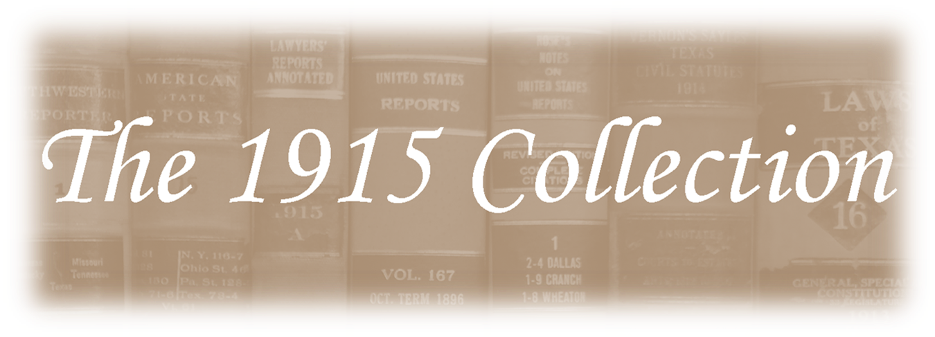 The 1915 Collection title graphic