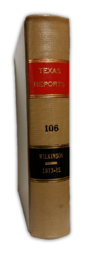 Volume 106 of Texas Reports - Click to enlarge.