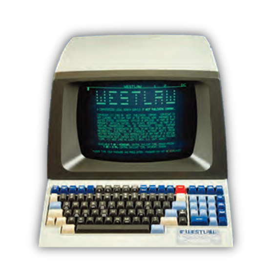 W.A.L.T. - West Automated Legal Terminal (c. 1986)  Photo used with permission of Thomson Reuters