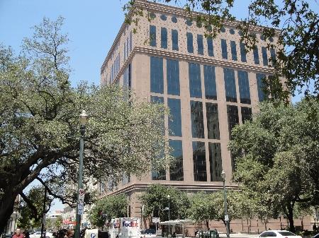 Exterior of Congress Plaza located at 1019 Congress Street, Houston, Texas