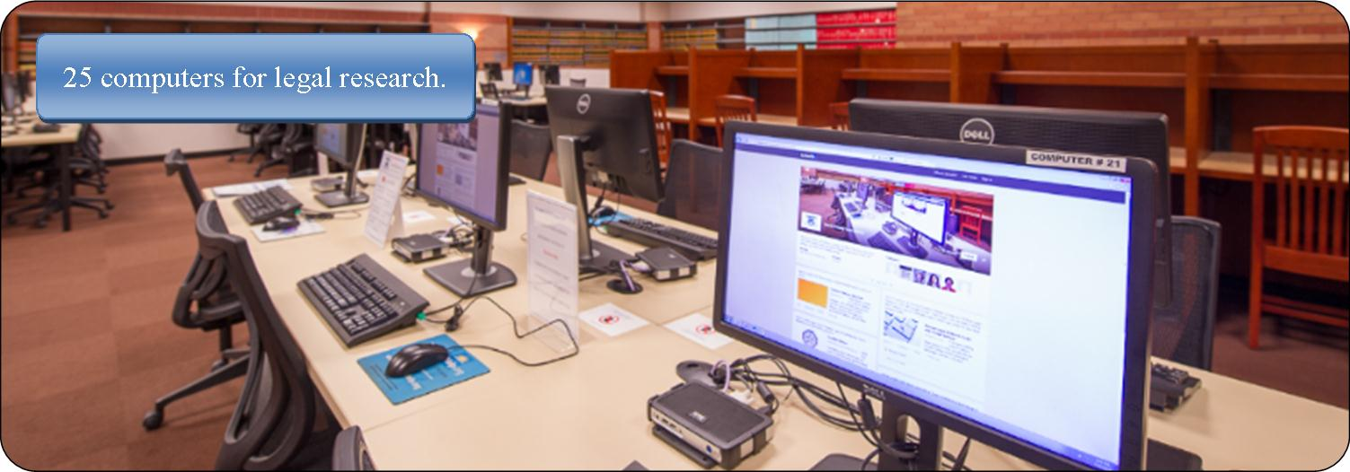 Public access computers at the Harris County Law Library