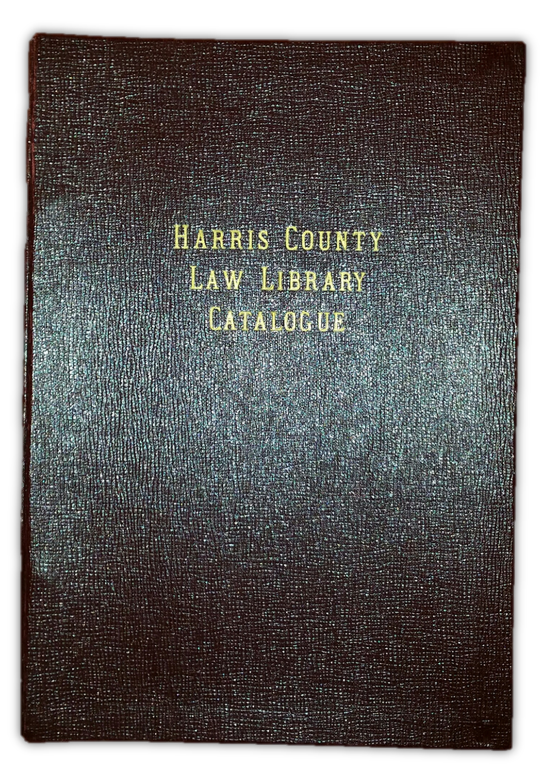 Harris County Law Library Catalogue - first published in 1949.  Click to enlarge .