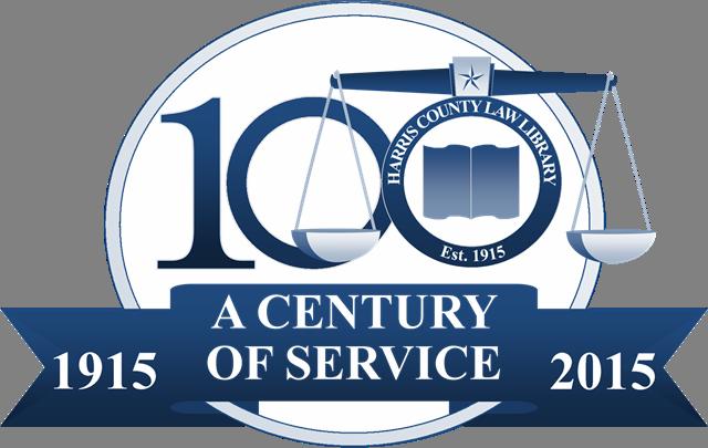 Harris County Law Library Centennial Logo