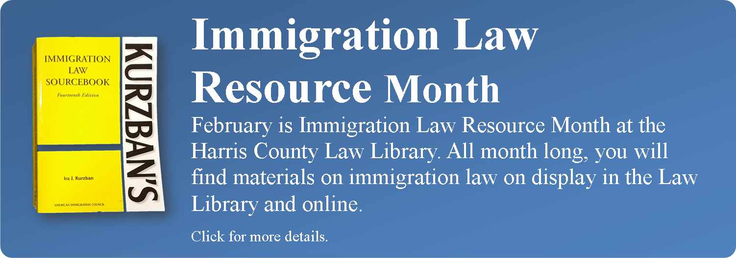 Link to event announcement for Immigration Law Resource Month