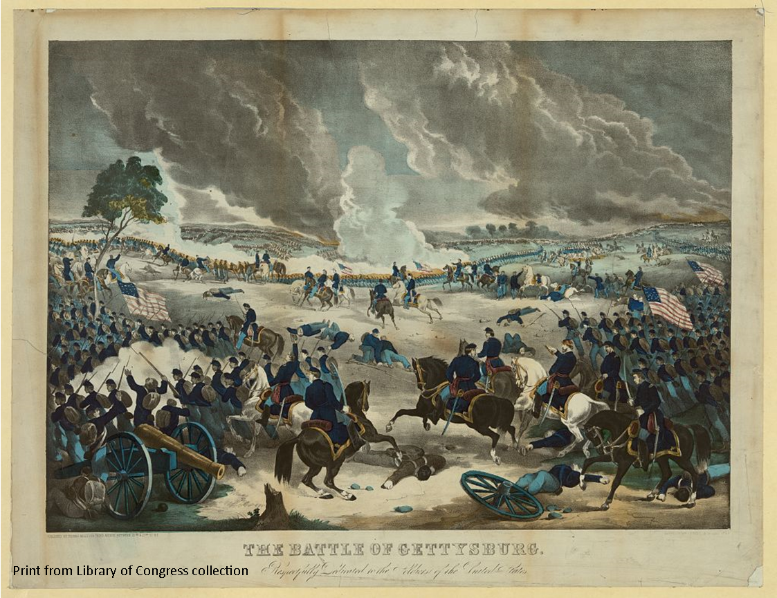 """Link to Library of Congress record for """"The Battle of Gettysburg"""""""