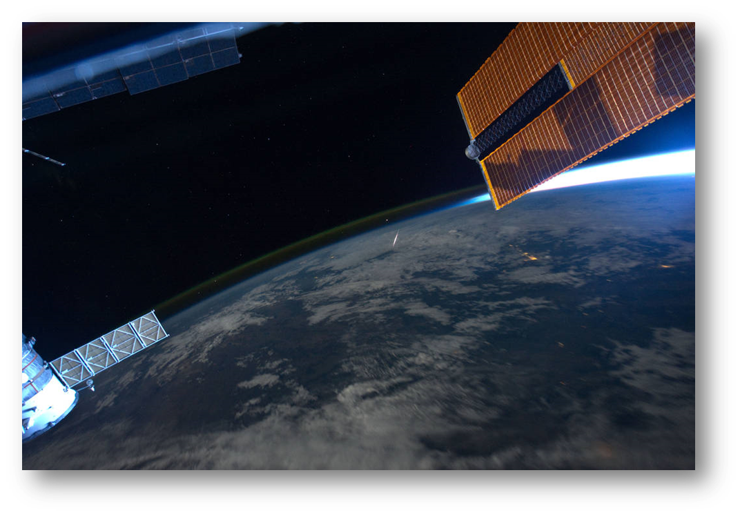 Image Credit: NASA - Originally published at   http://www.nasa.gov/image-feature/watching-meteors-from-the-space-station