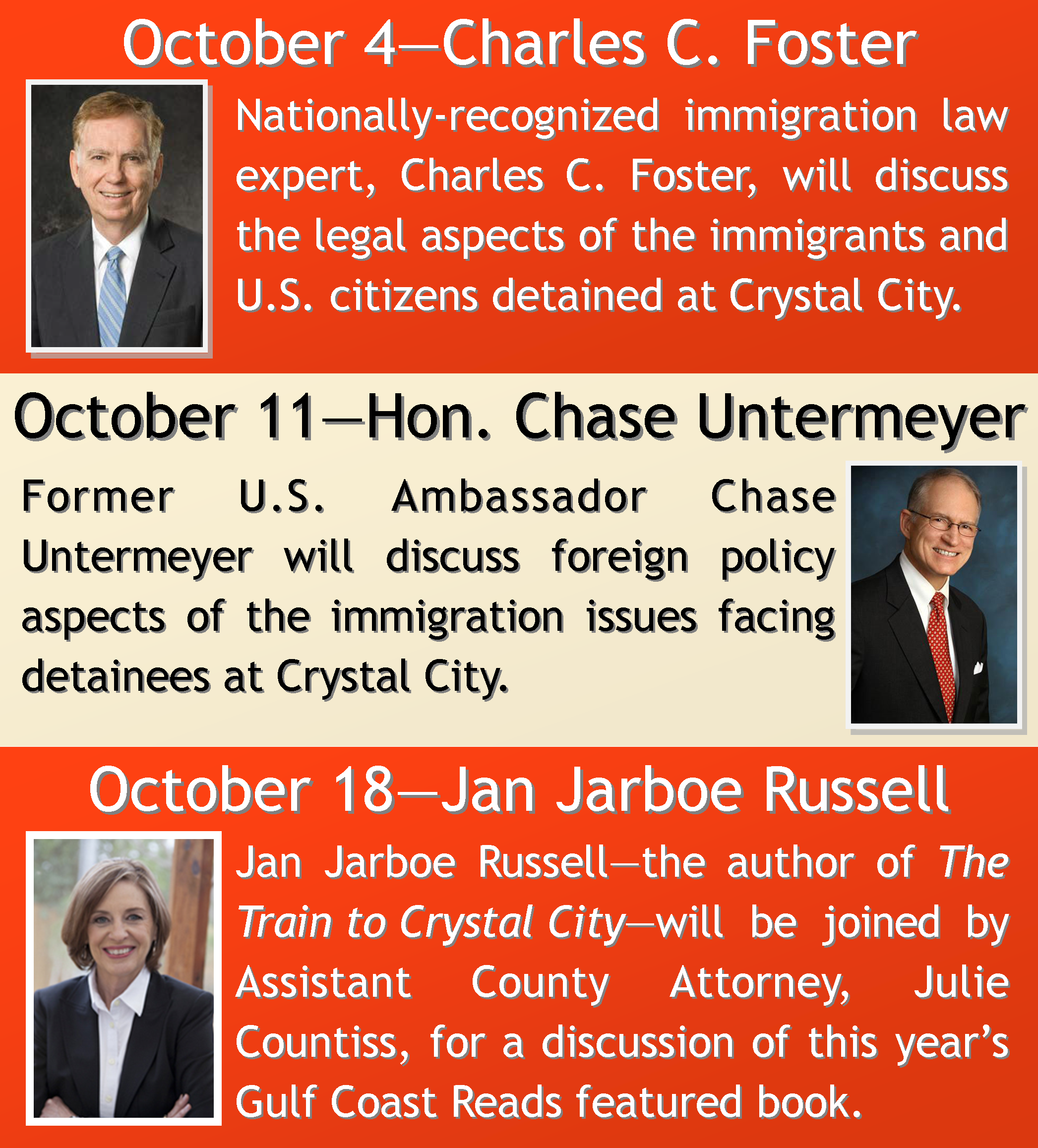 Click for more information on the Harris County Law Library's upcoming lecture series titled  Immigration Law and Internment Camps in Texas .