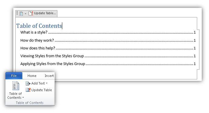Tech Tuesday: Creating an Automatic Table of Contents in Microsoft Word