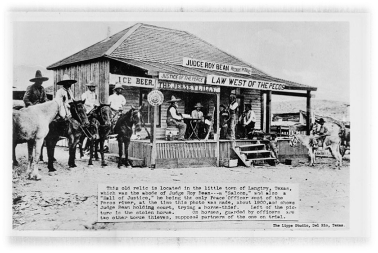 Judge Roy Bean Saloon & Justice Court, Langtry, Val Verde County, TX  Photo from the Library of Congress Photo, Print, & Drawing Collection