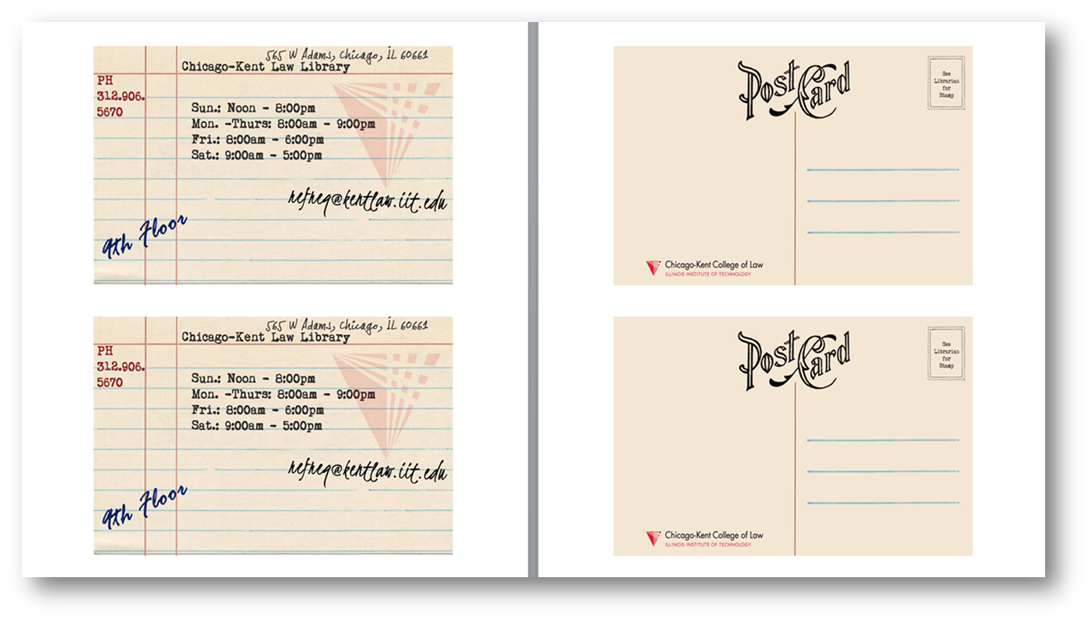 Postcard Template in Microsoft Word - Scott Vanderlin, IIT-Chicago Kent Law Library  Click to download Word document.