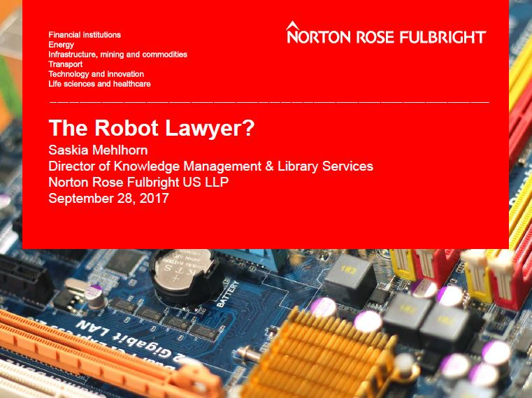 Click to download the slides for  The Robot Lawyer  CLE