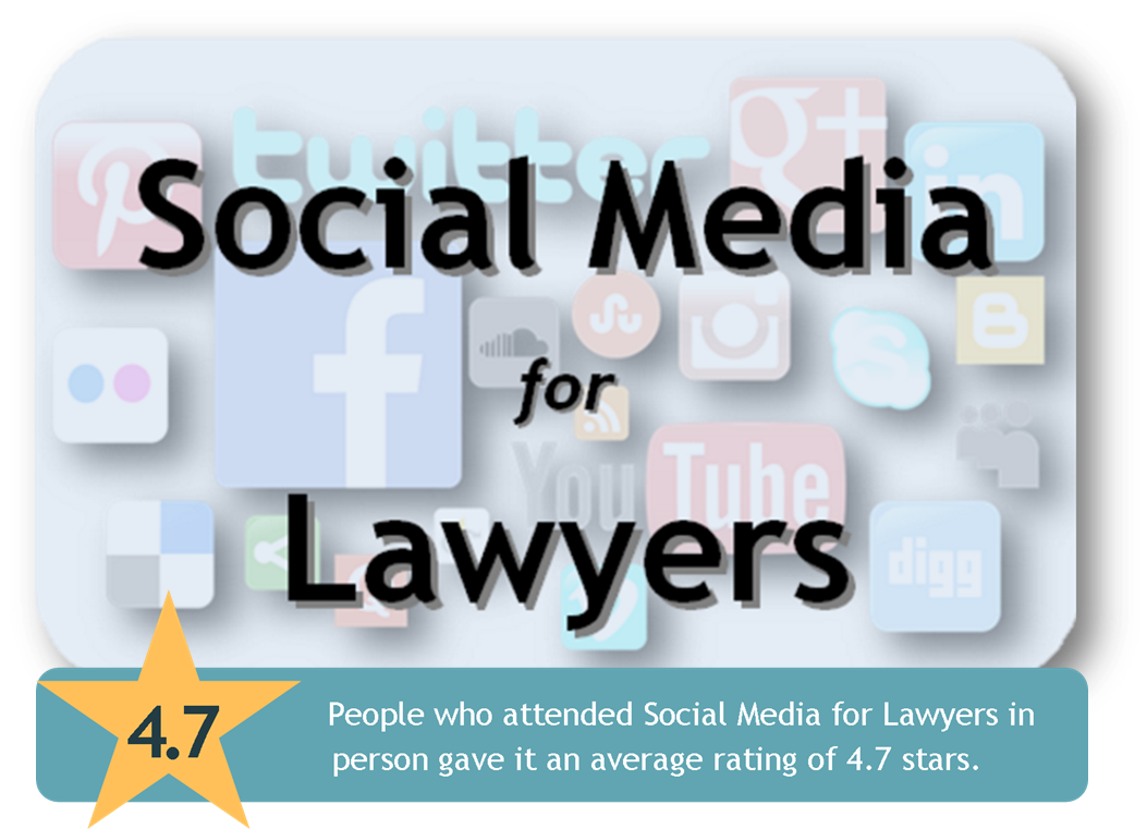 Link to Social Media for Lawyers CLE page from the Harris County Law Library's Legal Tech Institute.