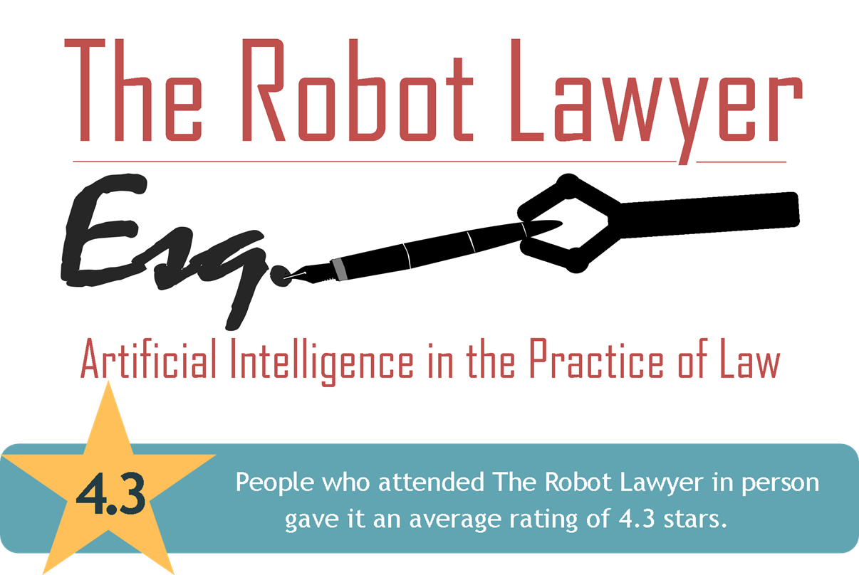 Link to The Robot Lawyer: Artificial Intelligence in the Practice of Law CLE page from the Harris County Law Library's Legal Tech Institute.