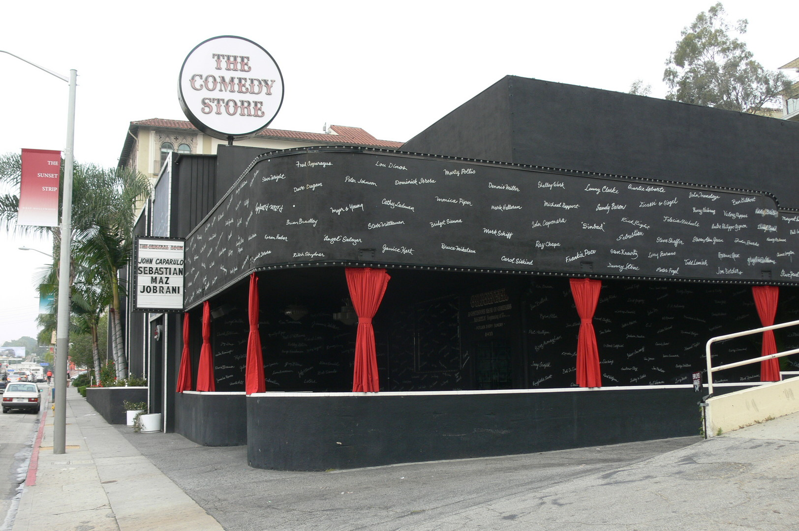 Clubs such as LA's iconic The Comedy Store are sometimes said to display a special light to comics on stage when a known joke thief enters the building.