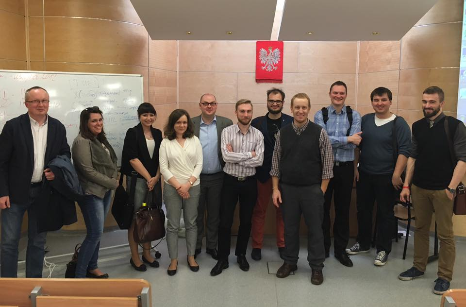 Jeff Woodmansee with legal research class at University of Silesia in Poland