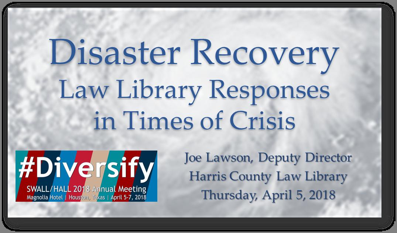 Click to download Joe Lawson's program materials.