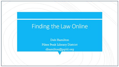 Click to download Deborah Hamilton's program materials.