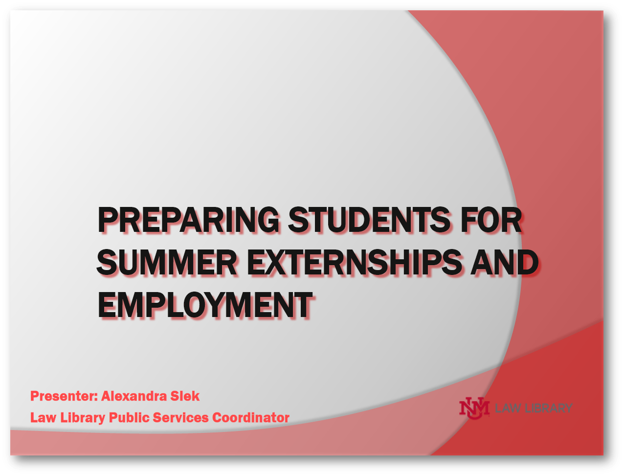 Click to download slides for this program.