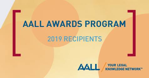 Click to view announcement for AALL Awards Program 2019 Recipients.
