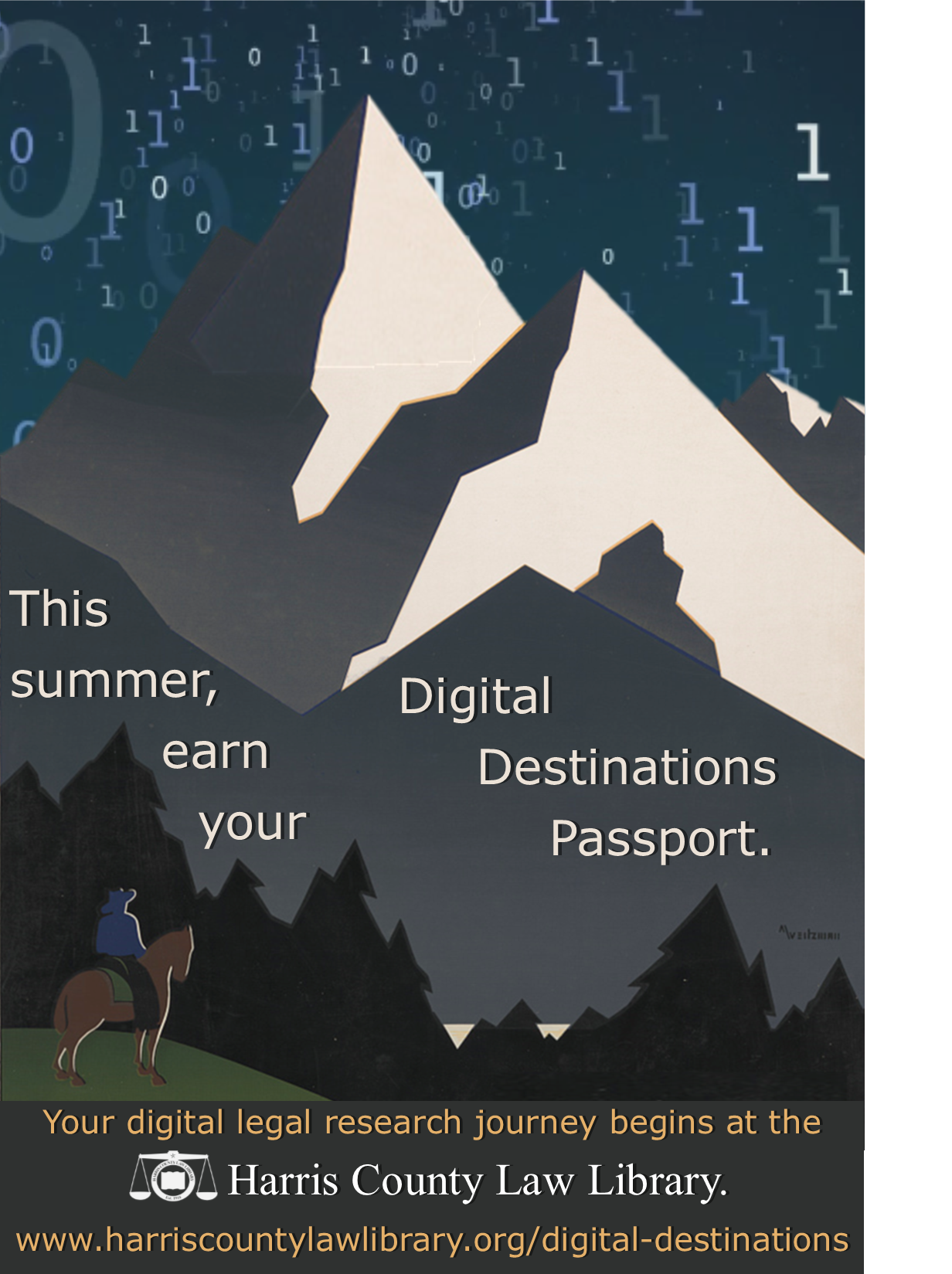 This summer, earn your Digital Destinations Passport. Your digital legal research journey begins at the Harris County Law Library.