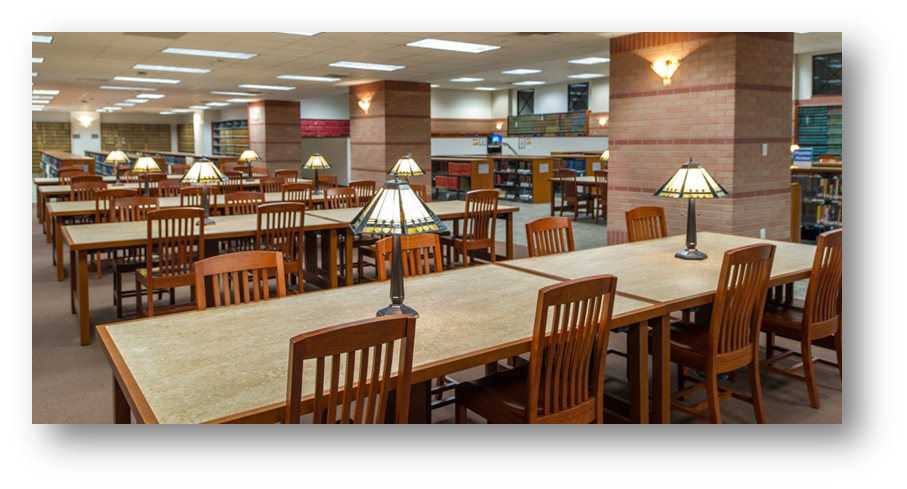Harris County Law Library reading room.