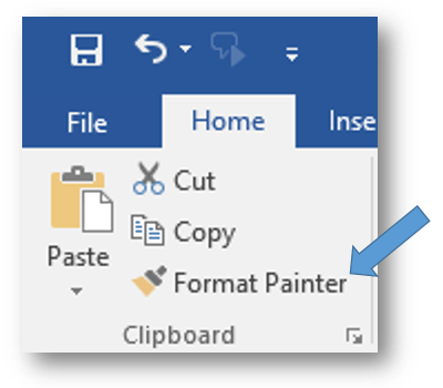 MS Word - Format Painter.PNG