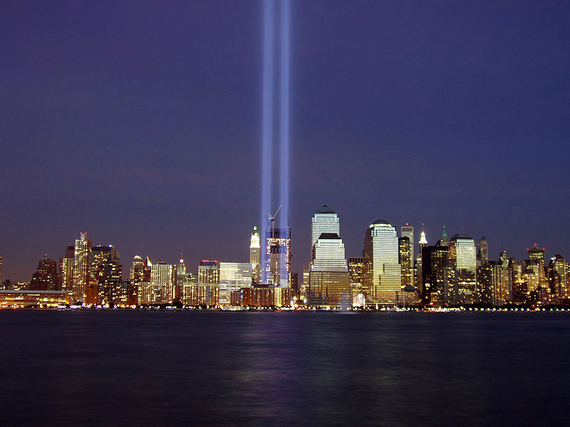 2004 World Trade Center Memorial titled  Tribute in Light .