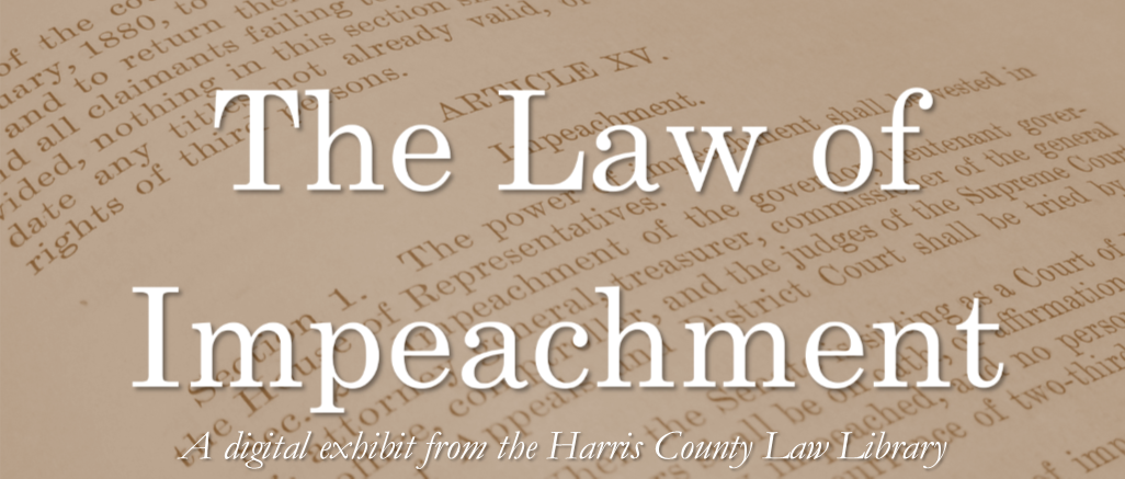 The Law of Impeachment