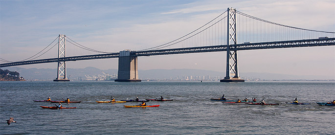 Mother's Day Kayaking Tour  Tour Alameda in a relaxed pace in safe double sea kayaks, enjoying the marine life, sea breeze, and sunshine