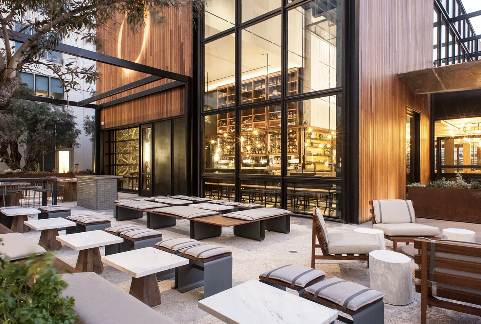 Otium  Highly touted DTLA eatery featuring a brunch buffet, raw bar and grill stations