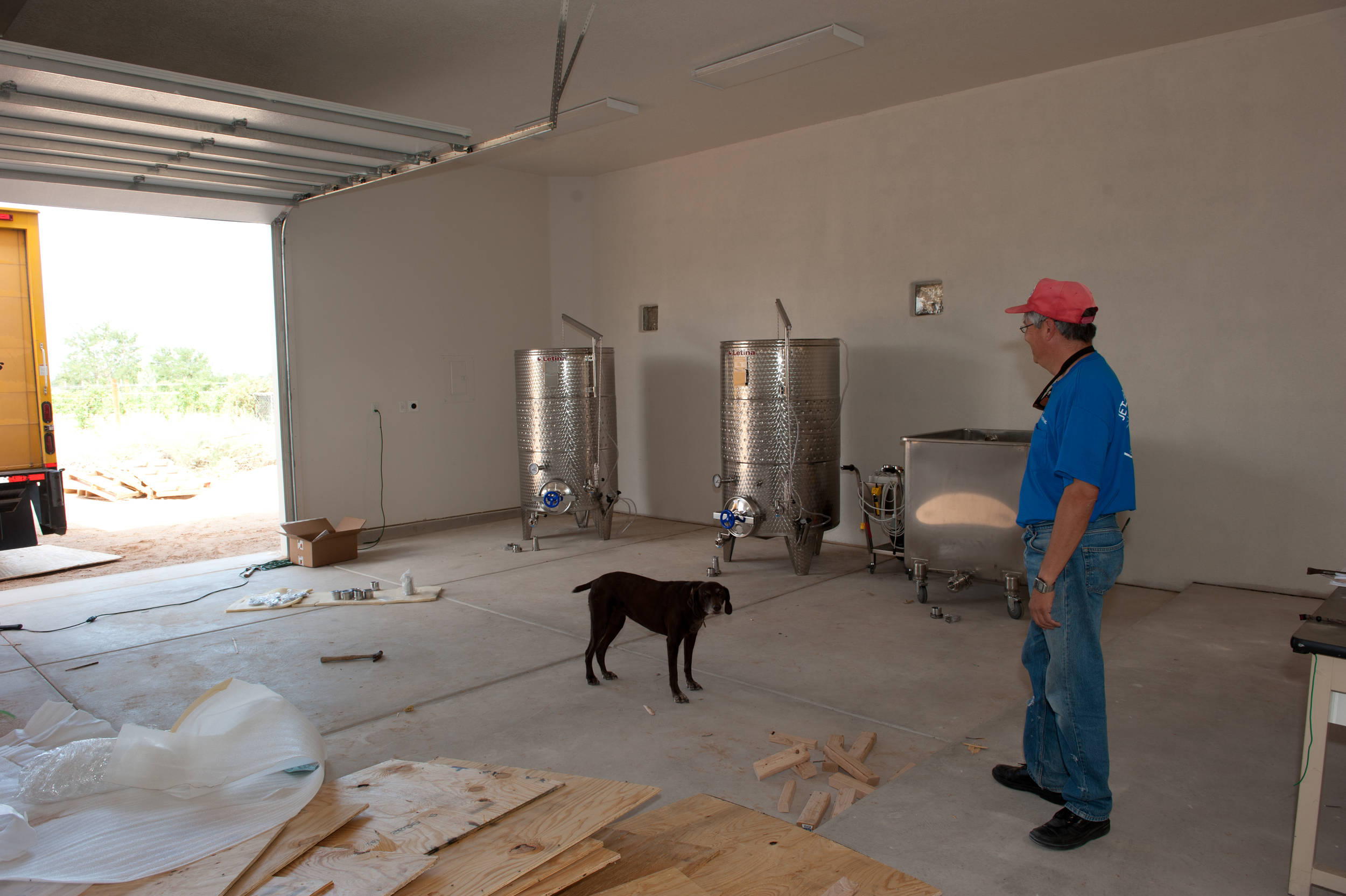 Two 250s and a Zena dog, ready to make wine.