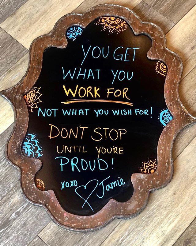 Friday Inspiration Quote By Sharon Daniel Salon Professional Stylist Jamie @jamiew_sds