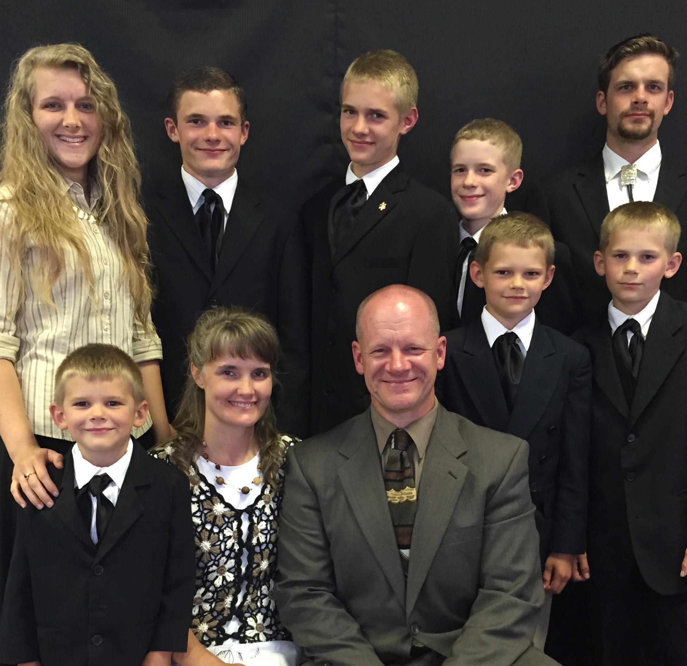 The Goodrick Family    Amanda, David, Joseph, Jeremiah, Daniel, Joshua, Caleb, Pastor, Vicki, and Josiah