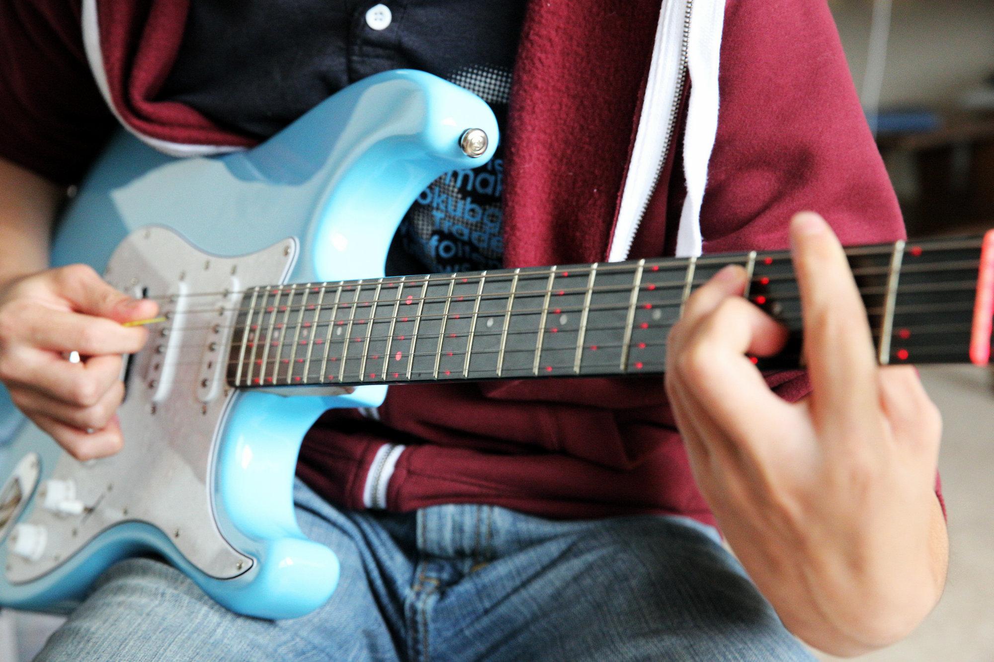 零基础速成温哥华电吉他solo一对一培训亚洲教学体系Fret Light Stratocaster