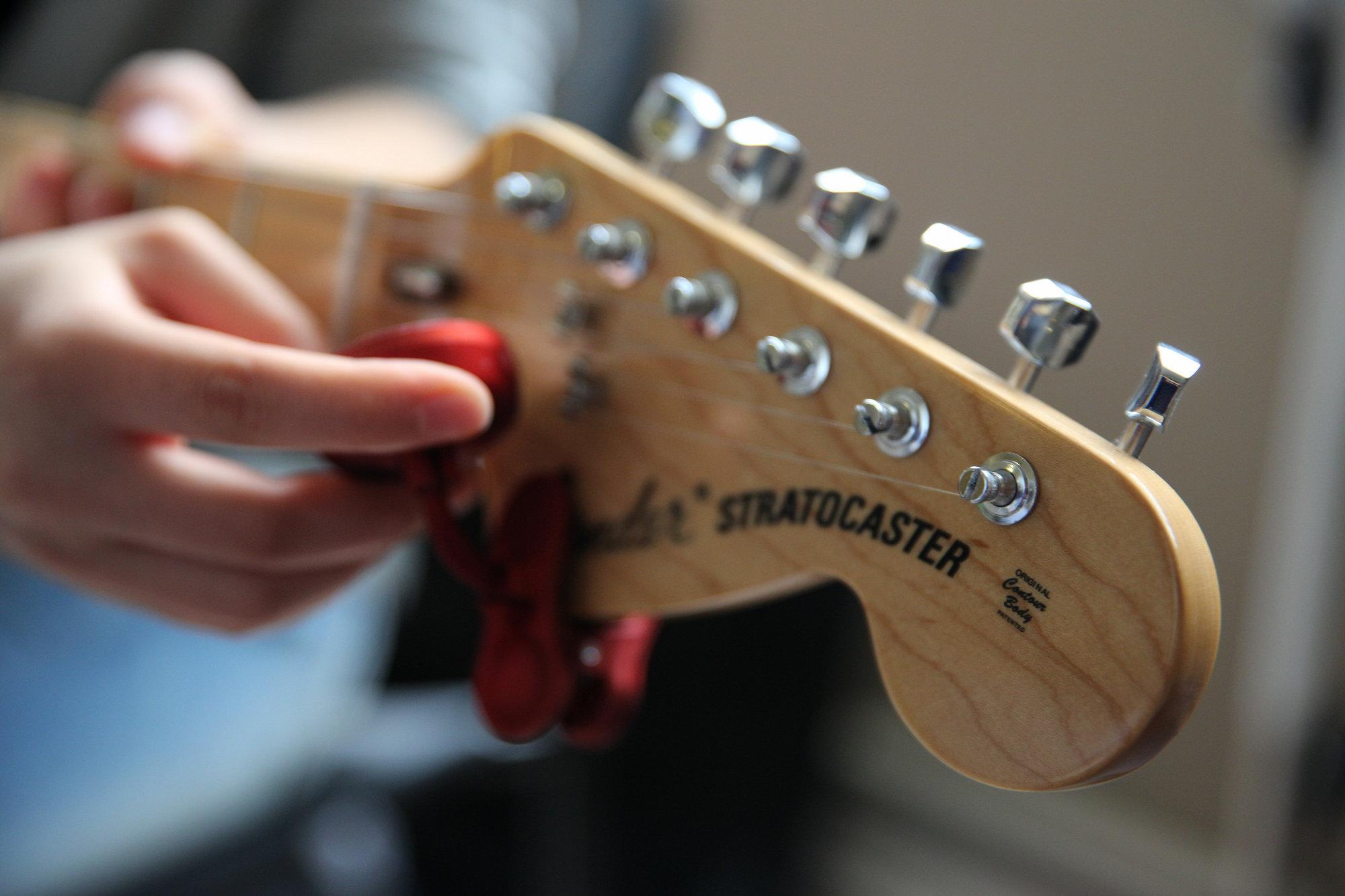 零基础速成温哥华电吉他solo一对一吉他课 Fender Stratocaster