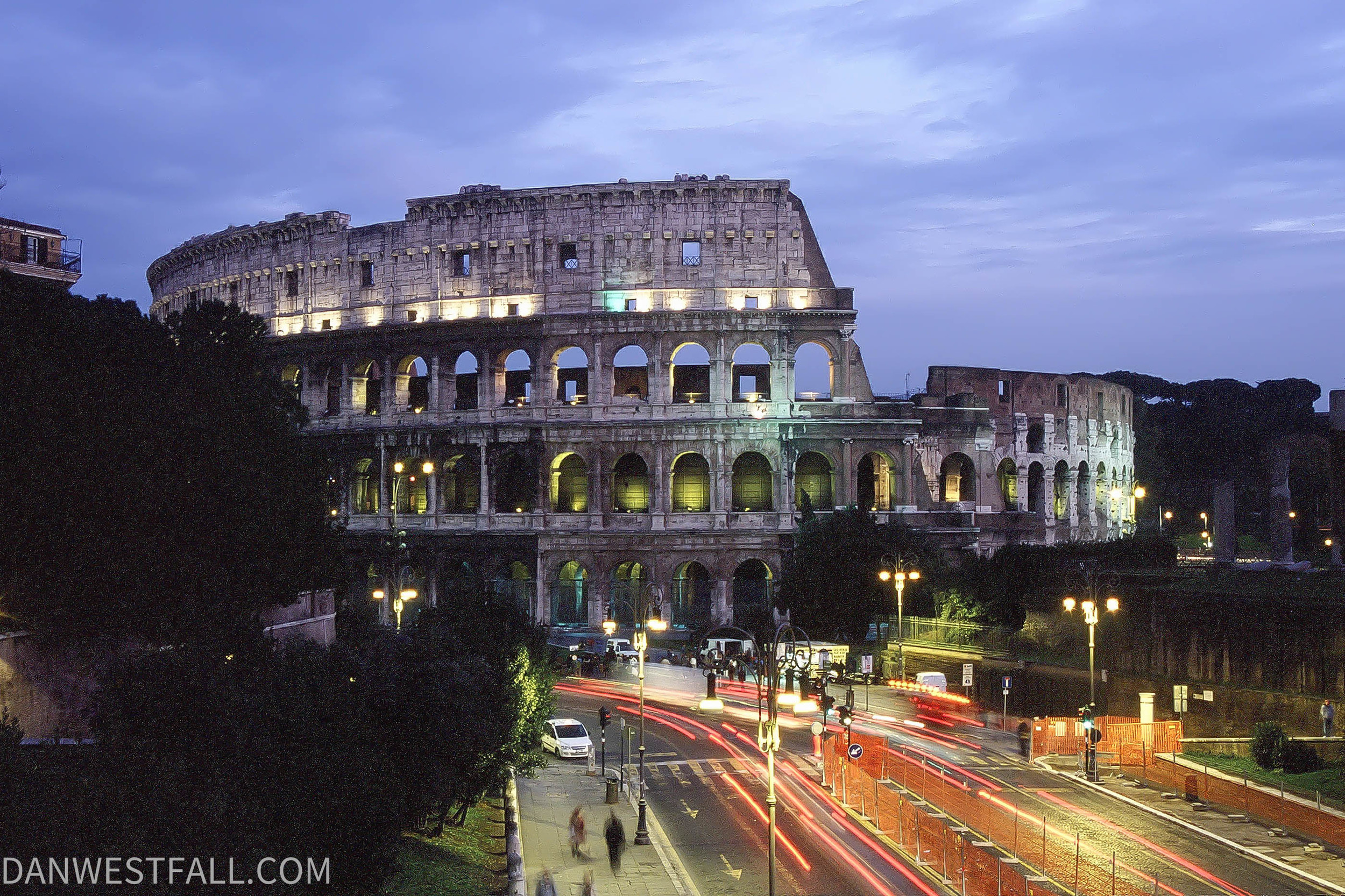 Rome Colosseum at night. #0262