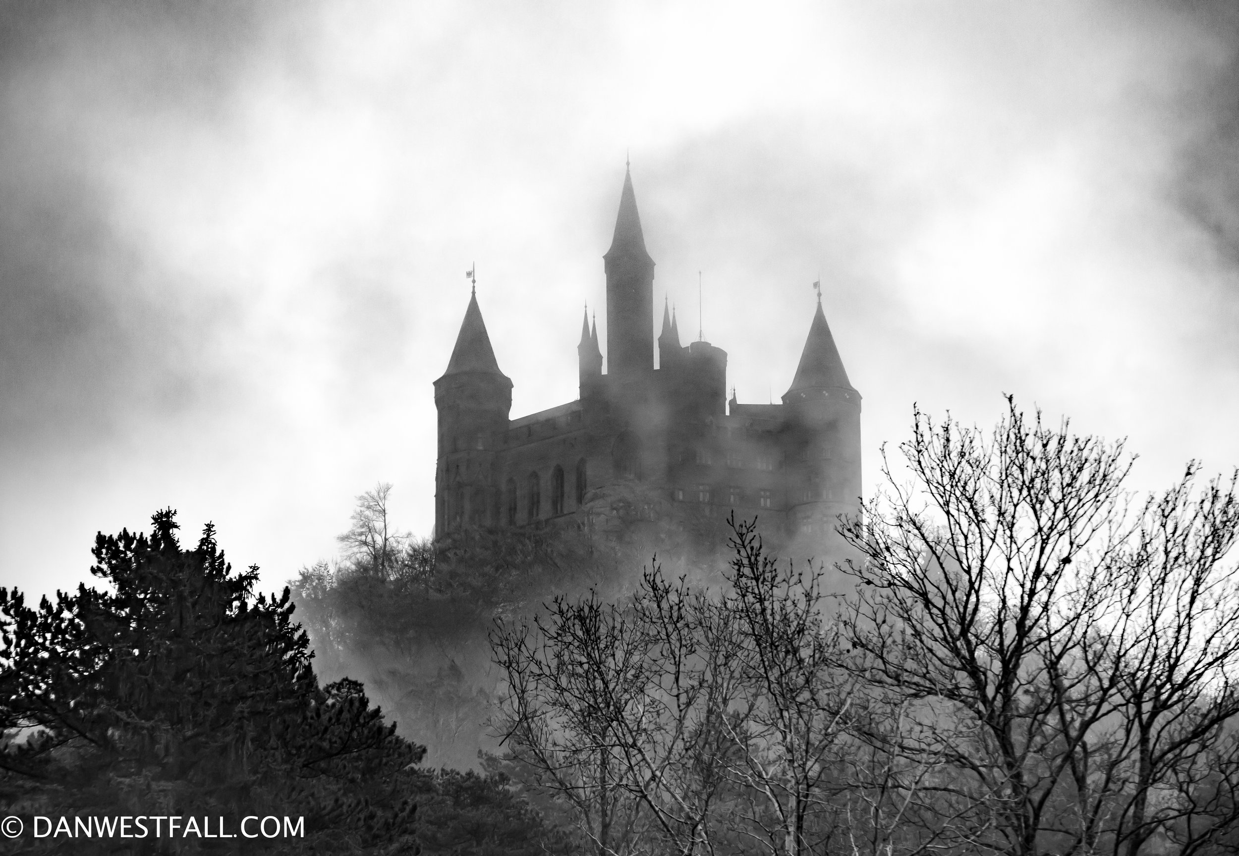 Germany Hohenzollern Castle in fog #0677
