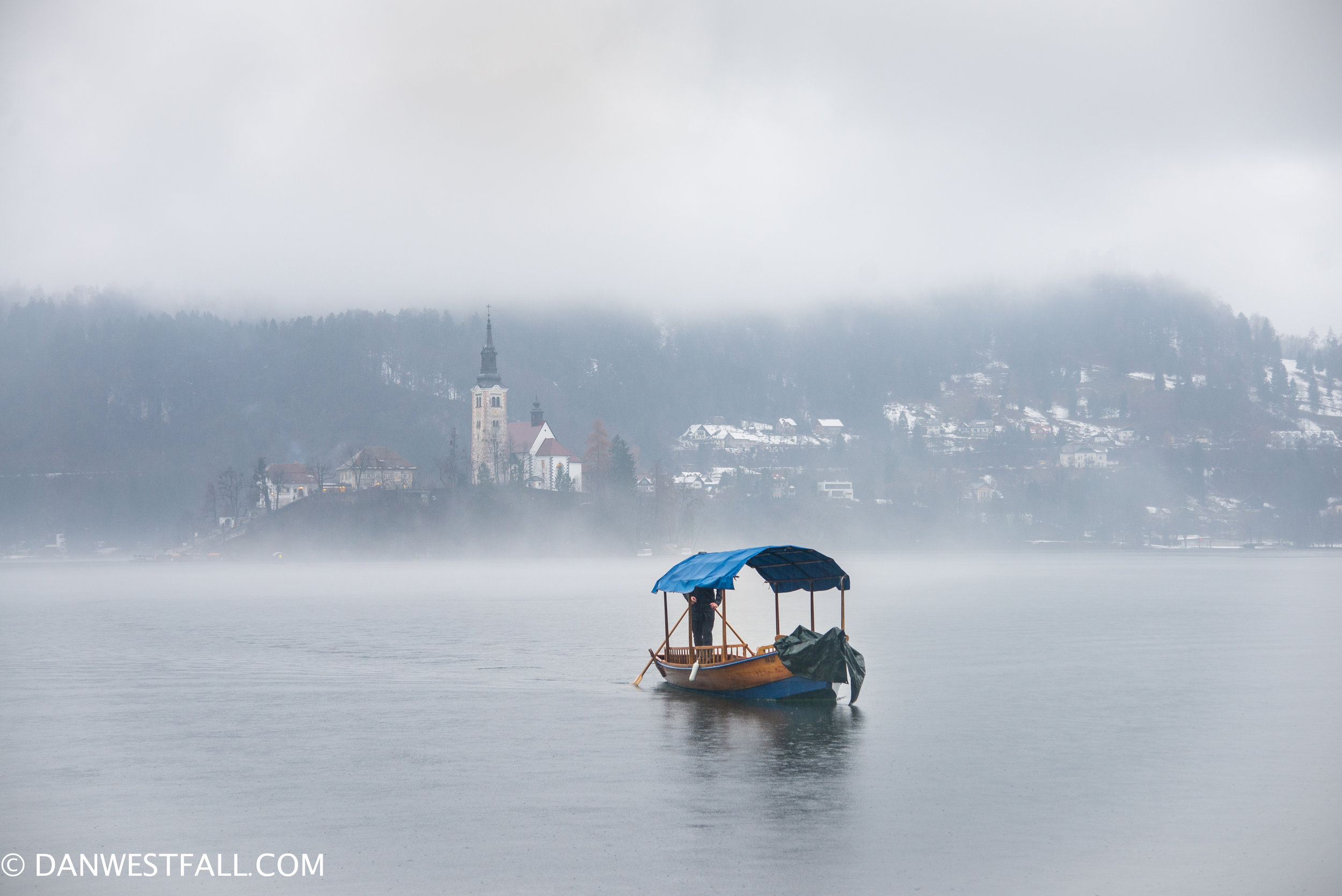 Lake Bled with fog. Slovenia. #351