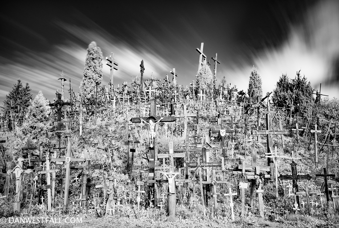 Hill of Crosses infrared. Lithuania.#726