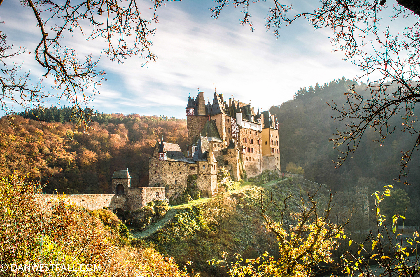 Burg Eltz with fall colors. Germany #0375