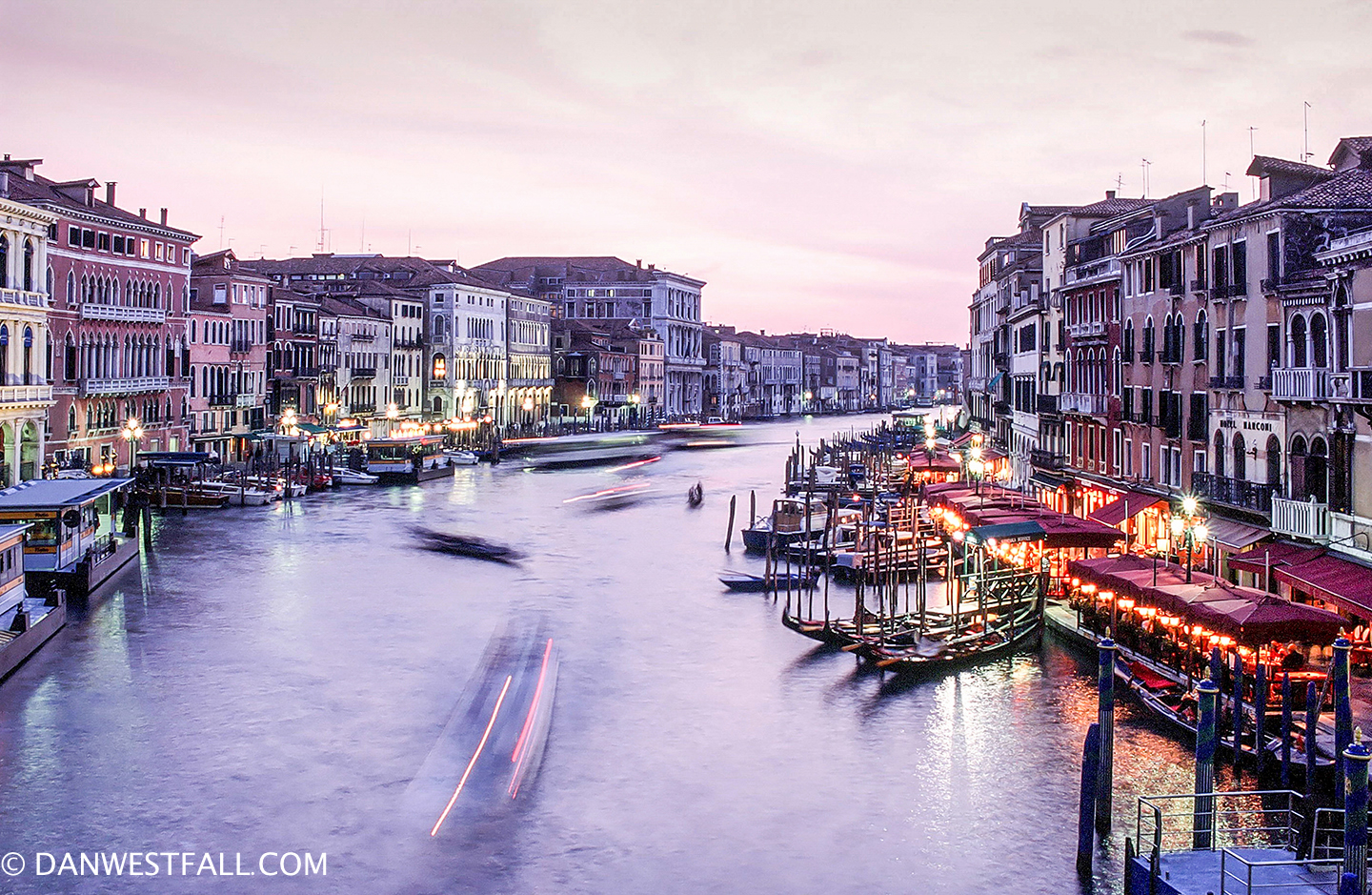 Venice at sunset.#0388